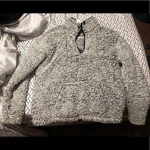 Gray fur sweater